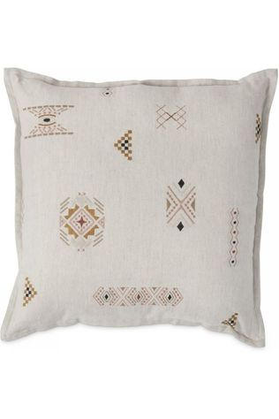 Yaya Home Kussen Embroidery Cushion Gebroken Wit/Assorti / Gemengd