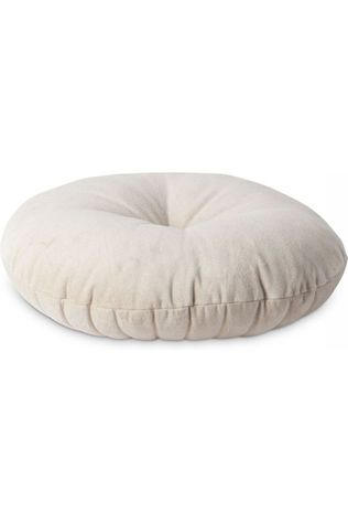 Yaya Home Kussen Velvet Cushion With Button Ecru