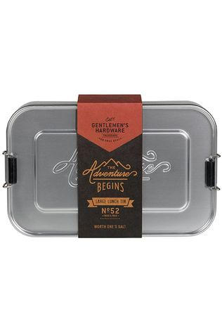 Gentlemen's Hardware Ustensiles De Cuisine Silver Lunch Box Large Argent