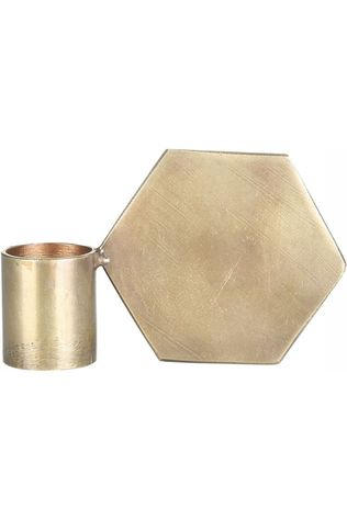 Yaya Home Brass Candle Holder Polygon copper