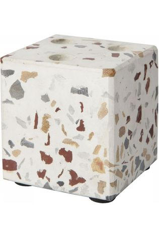 Yaya Home Kaarsenhouder Cube Terrazzo Candleholder For 3 Mini Candles Assorti / Gemengd