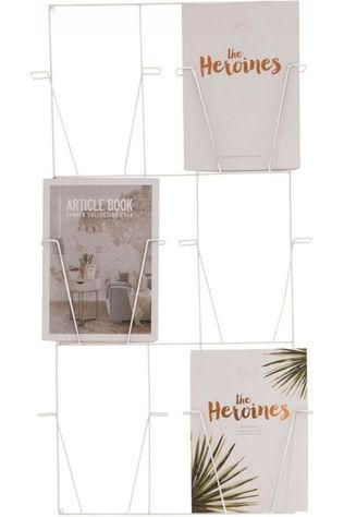 Yaya Home Rek Magazine Rack 97X54X4Cm Wit