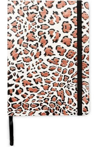Yaya Home Papierwaren Notebook Panther Print Zandbruin