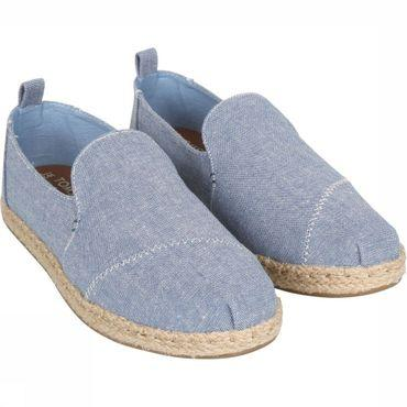 Shoe Blue Slub CHambray Women Decnalp