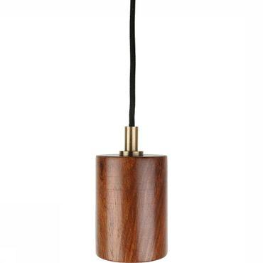 Lamp Round Wood Fitting Lamp 1,7m Wire