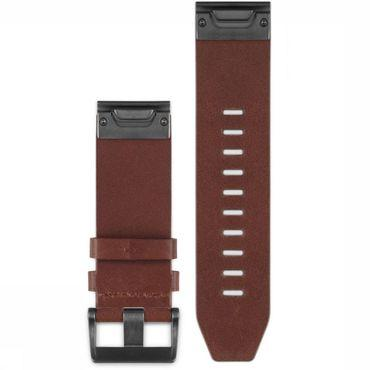 Gps Accessoire Fenix 5X Leather Band 26mm Quickfit