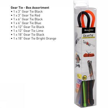 Diverse Gear Tie Assortiment 8-Pack