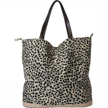 Tas Reversible With Leopard Print