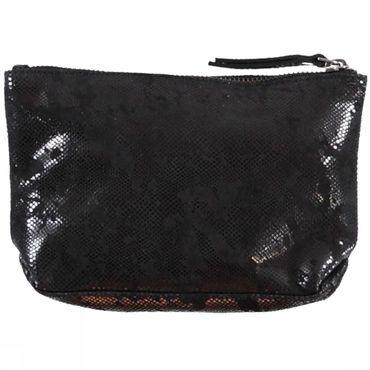 Bag Metallic Leather Pouch