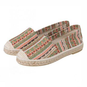 Shoe Jaquard Striped Espadrille