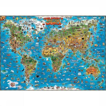 Children'S Map Of The World Plano Gepl. Dino
