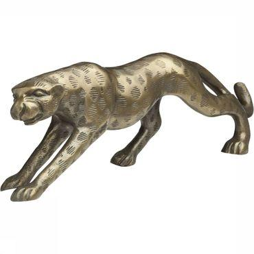 Decoratie Brass Look Cheetah Ornament