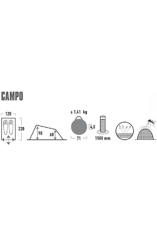 High Peak Tent Pop Up Campo Mid Grey/Ass. Camouflage