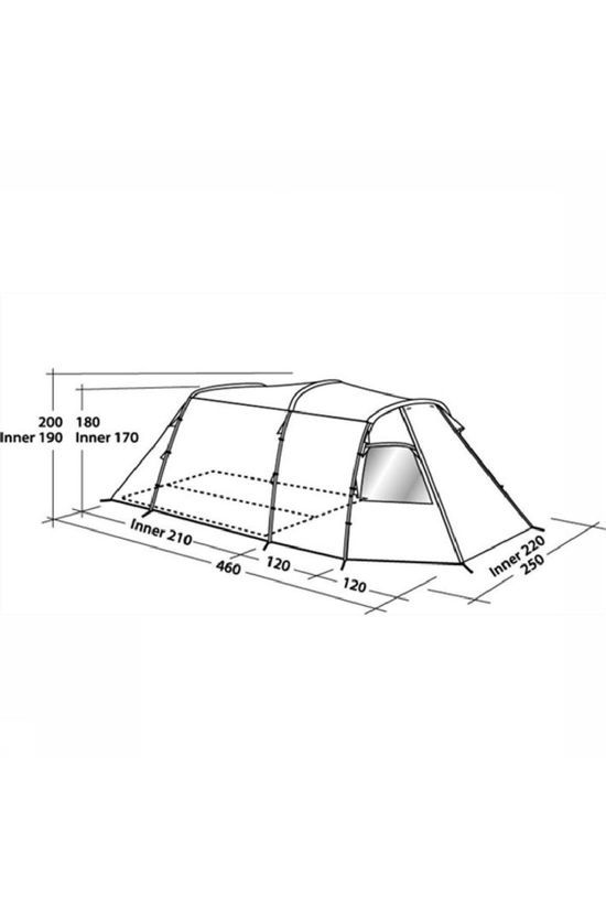 Easy Camp Tent Huntsville 400 dark grey/dark green