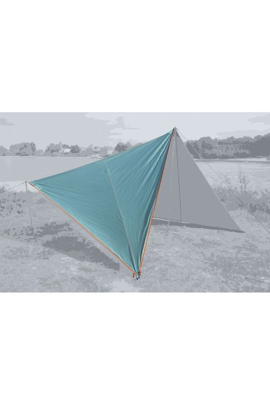 Bent Tarp Canvas Plain Set Turquoise