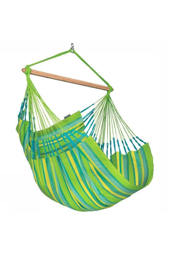 La Siesta Hammock Domingo Hammock Chair Lime Green/Blue