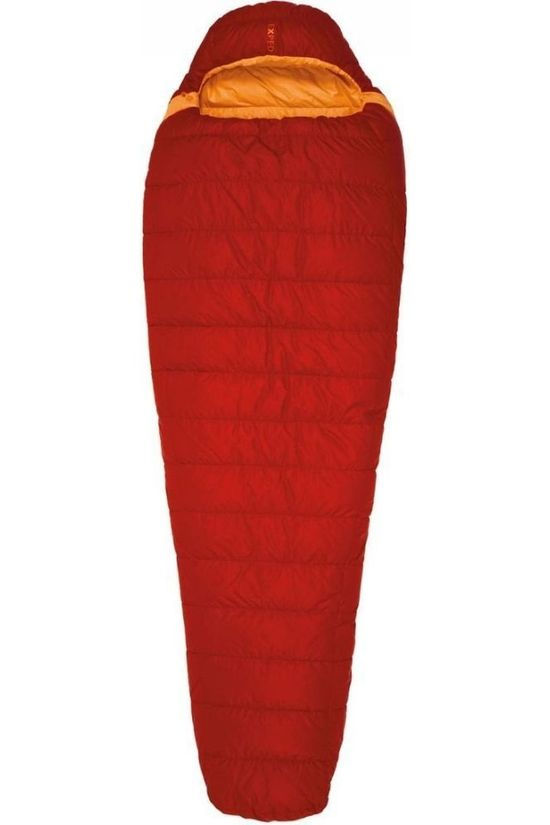 Exped Sleeping Bag Lite +1° L Right red/orange