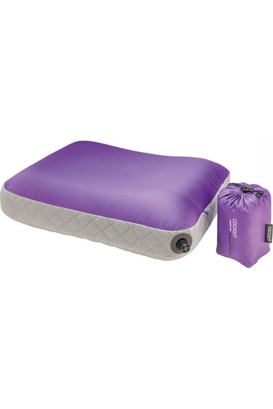 Cocoon Pillow Air Core Ultralight L light purple/light grey