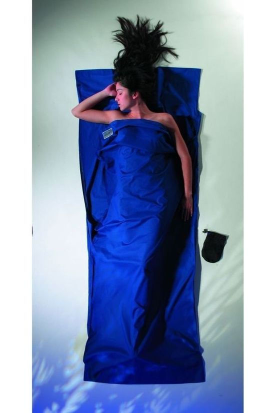 Cocoon Liner Travelsheet 100% Cotton Navy Blue