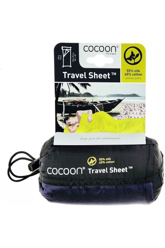 Cocoon Liner Travelsheet Silk/Cotton white