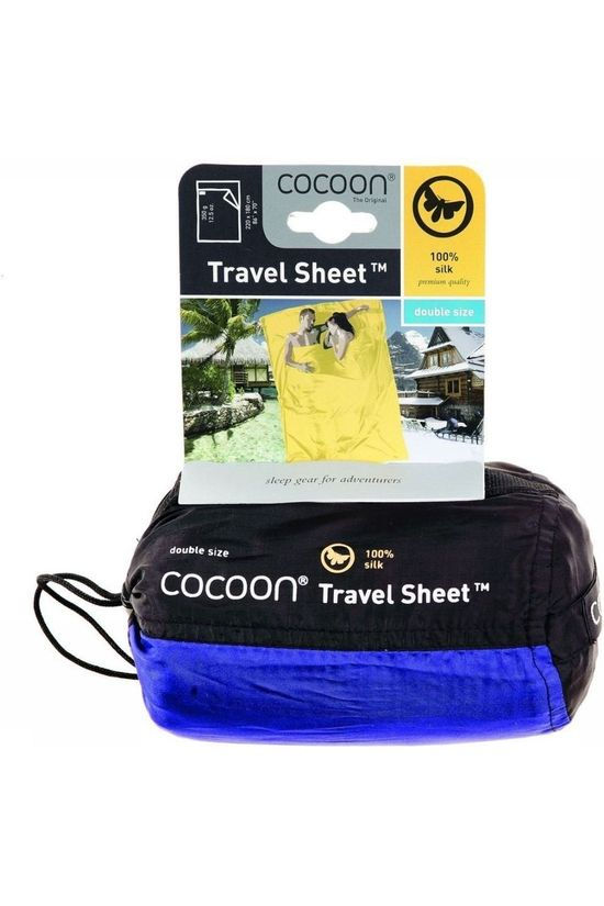 Cocoon Liner Travelsheet Double 100% Silk Navy Blue