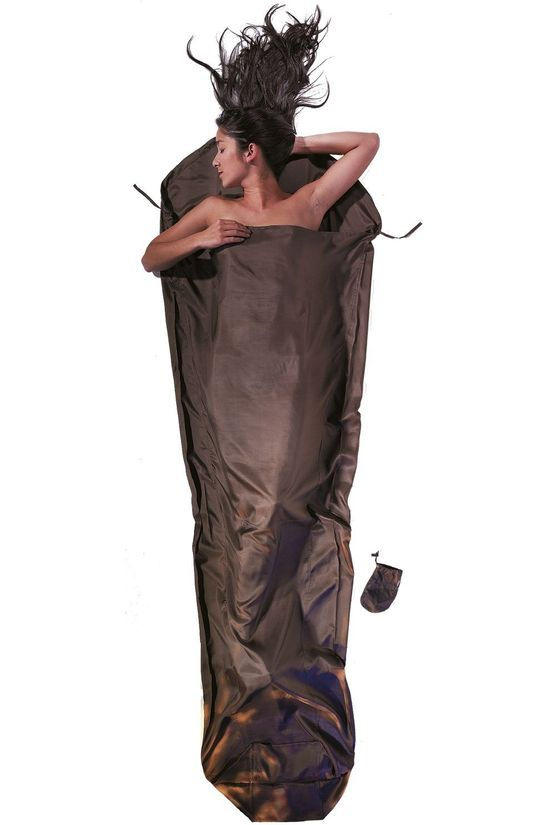Cocoon Liner Mummyliner Silk dark brown