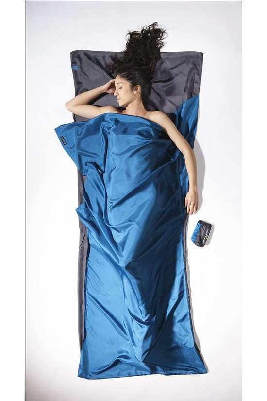 Cocoon Liner Travelsheet Silk light blue/dark blue