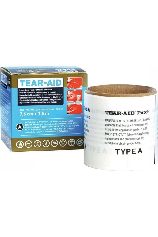 Tear-Aid Accessory Reparatiemiddel Type A Transparant Rol 1,5 Meter No colour / Transparent