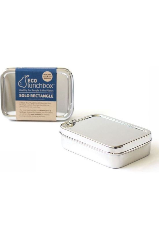 Ecolunchbox Pot Rectangle silver