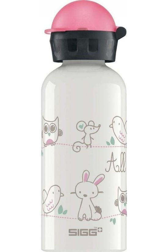 Sigg Drinkfles Sig All My Friends 0.4L Wit/Lichtroze