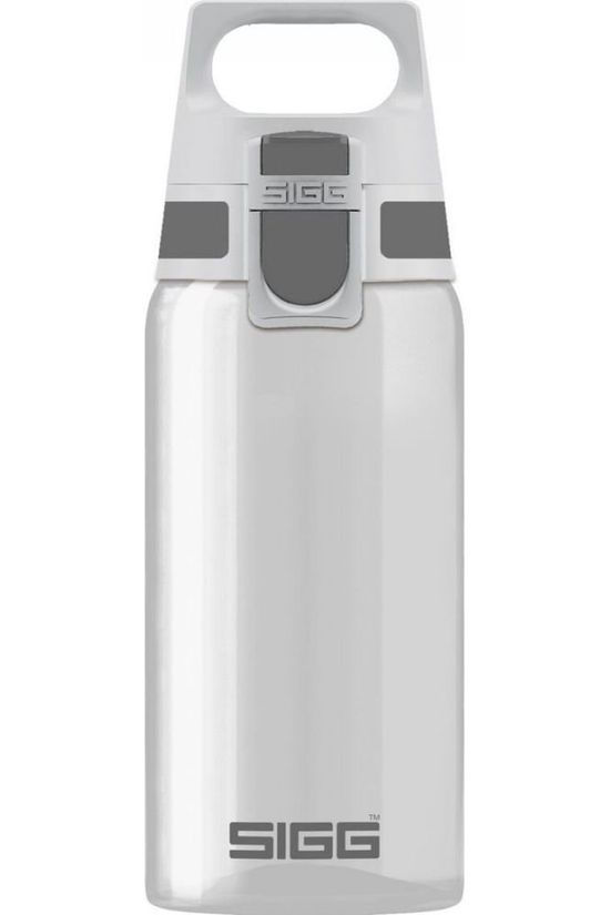 Sigg Drinkfles Total Clear One 0,5L Donkergrijs/Wit