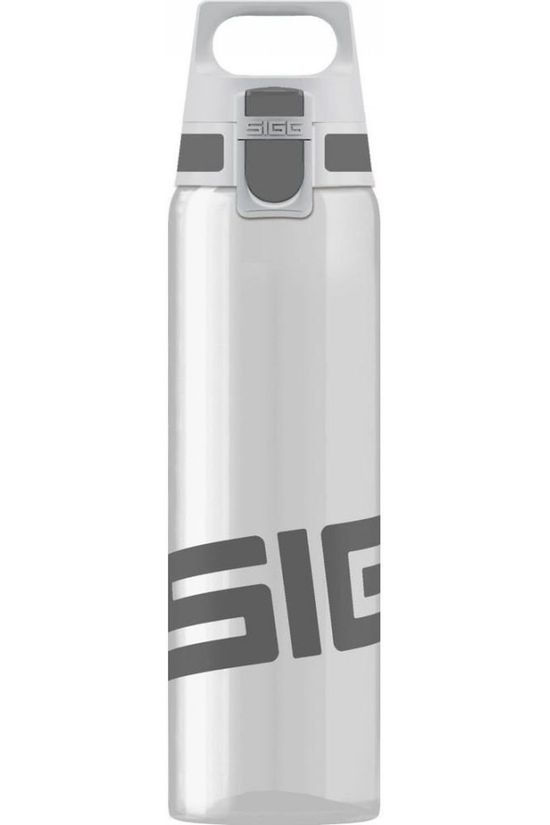 Sigg Drinkfles Total Clear One 0,75L Donkergrijs/Wit