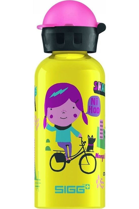 Sigg Drinkfles Travel Girl Shanghai 0.4L Geen kleur / Transparant