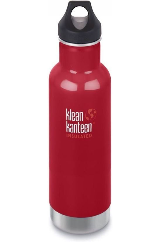 Klean Kanteen Isolation Bottle Classic Vacuum Insulated 20Oz 592Ml Loop mid red