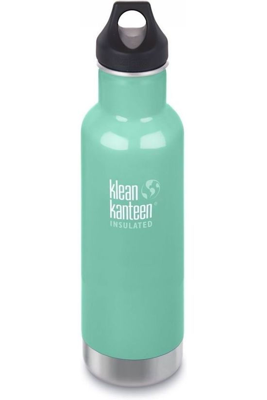 Klean Kanteen Isolatiefles Classic Vacuum Insulated 20Oz 592Ml Loop Lichtgroen