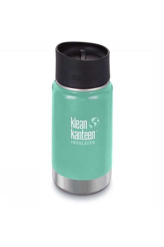 Klean Kanteen Bouteille Isolante Wide Vacuum Insulated 12Oz 355Ml Cafe Cap 2.0 Vert Clair