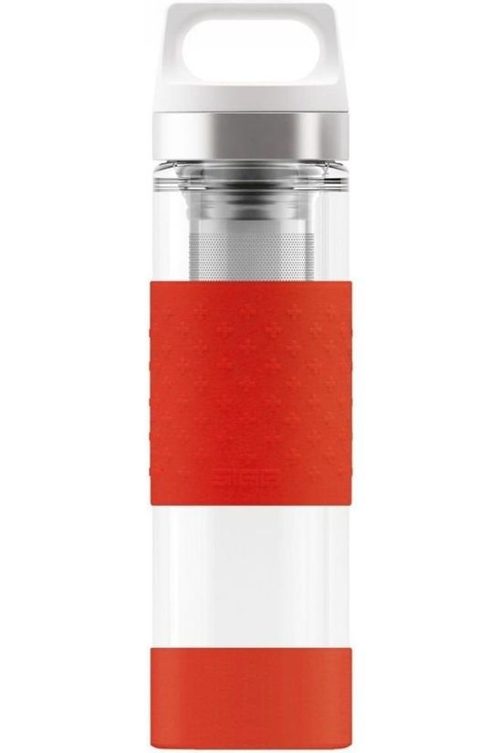 Sigg Isolatiefles Hot/Cold Glass Wmb 0.4L Rood