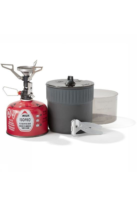 MSR Stove  Pocketrocket Deluxe Stove Kit dark grey