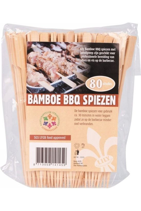 Lily Stove Bamboe Barbecue Spiezen 80 Stuks No colour / Transparent