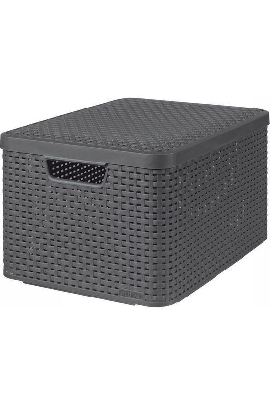 Curver Miscellaneous Opbergmand Rattan Style Large dark grey