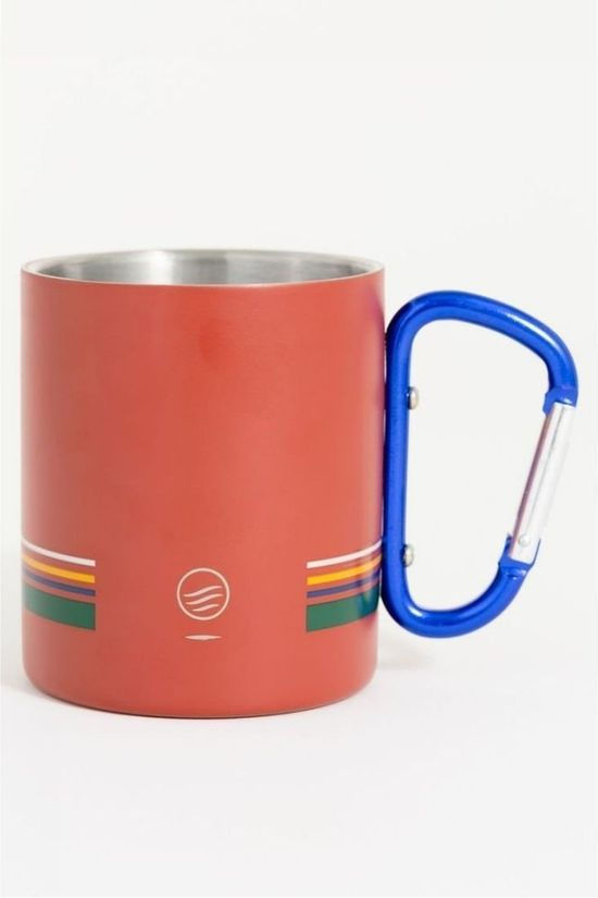 United by Blue Gadget Stainless Steel Carabiner Cup Middenrood/Donkergroen