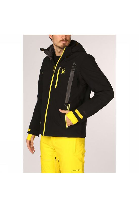 Spyder Coat Tripoint Gore-Tex black/yellow