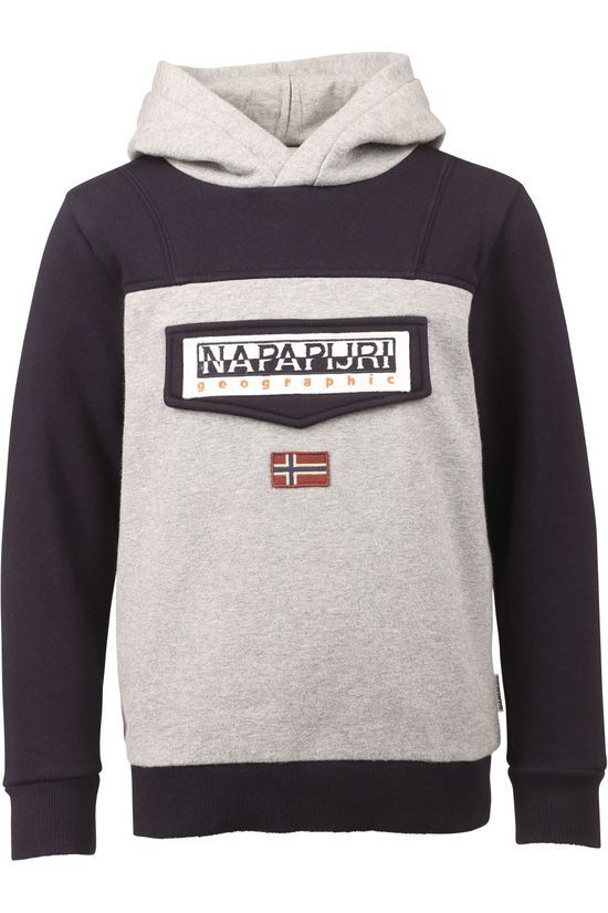 Napapijri Pullover K Burgee W Light Grey Marle/Blue