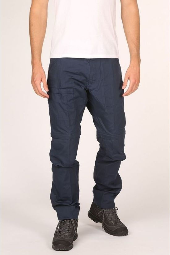 Fjällräven Trousers High Coast Zip-Off Navy Blue