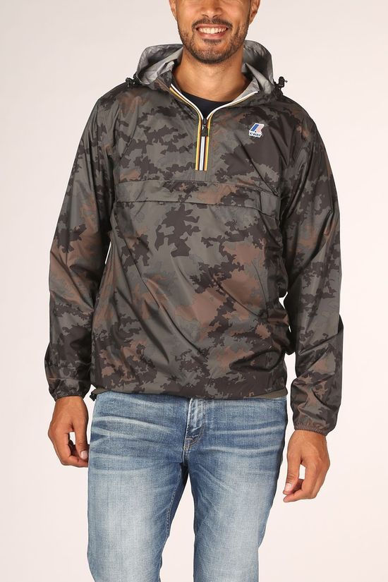 K-Way Coat Le Vrai 3.0 Leon Dark Khaki/Ass. Camouflage