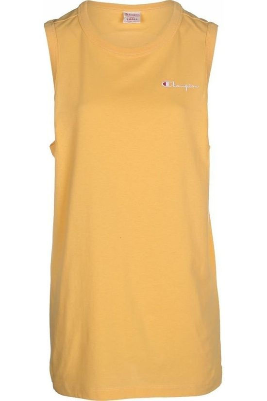Champion T-Shirt Singlet Long Logo Backprint mid yellow