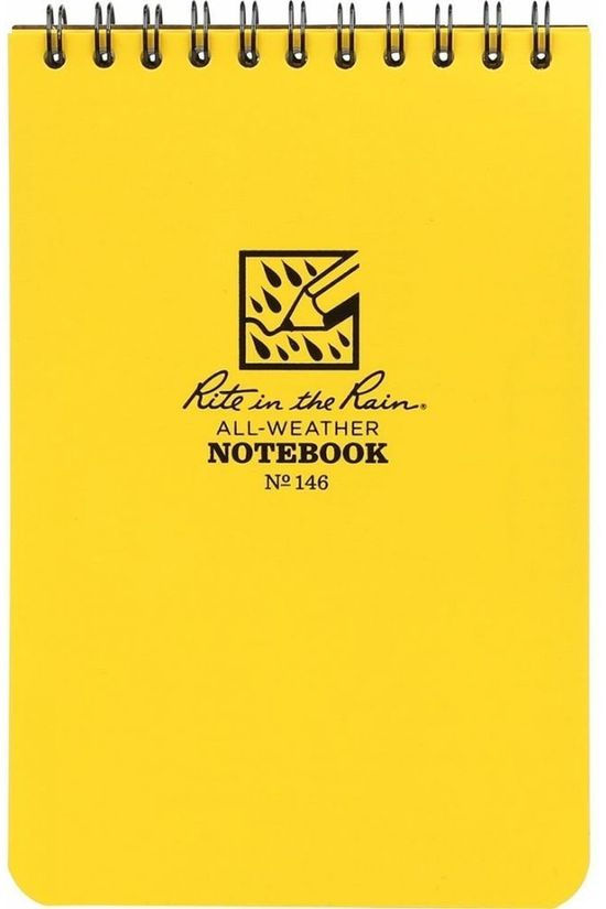 Rite In The Rain Gadget 4*6 Notebook With Header Hangtag mid yellow