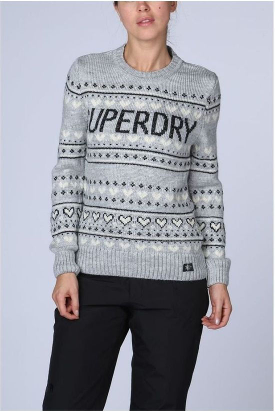 Superdry Trui Cleveland Fairsile Knit Middengrijs