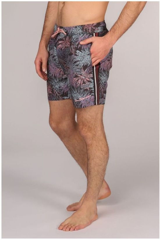 Ben Sherman Swim Shorts L5-3526 Black/Ass. Flower