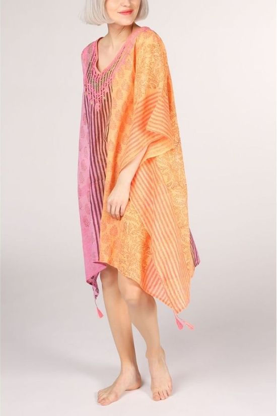 Happy Few Jurk Kaftan Fuchsia